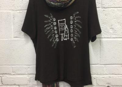 coffee shirt, size large
