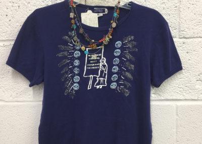 Blue cotton shirt size Medium