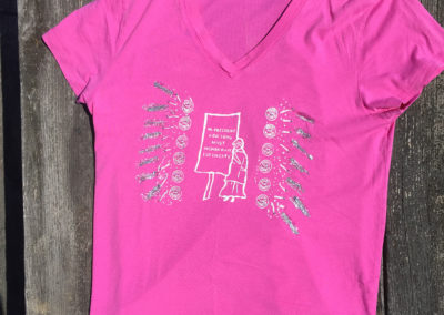 Pink t-shirt, size extra large