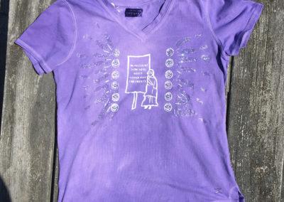 Purple shirt, size small