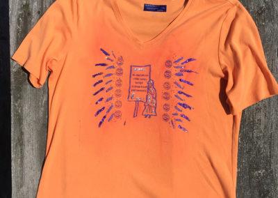 orange shirt, size extra large