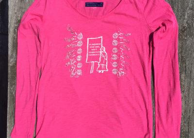 pink Long Sleeves, Medium