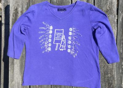 purple blue shirt, size Medium