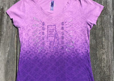 purple patterned shirt, sie small