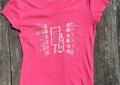 Pink shirt, size small