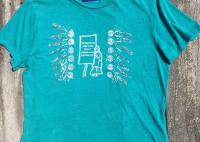turquoise shirt, size medium