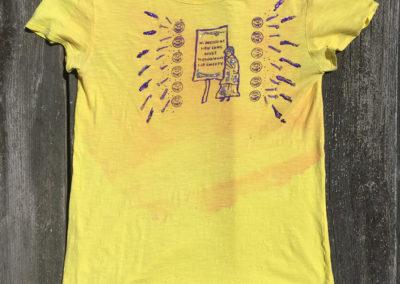 yellow shirt,size small